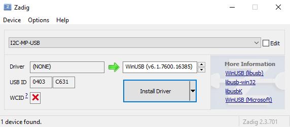 I2C-MP-USB - USB to I2C Interface - fischl de