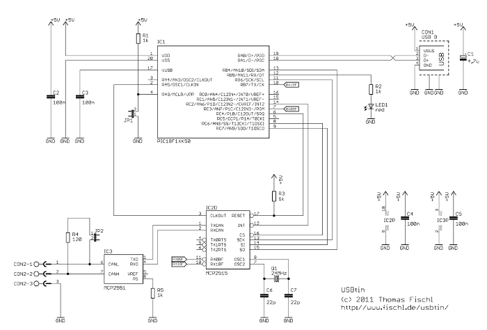usbtin usb to can interface fischl de schematic usbtin s circuit diagram